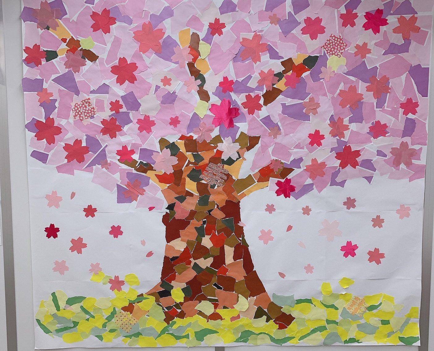 桜満開! グループワークの成果