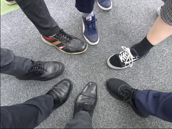 靴みがき!
